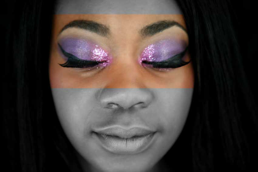 Bright Pink and Purple eyes